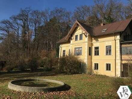 Schöne Jahrhundertwendevilla in sonniger Grünlage