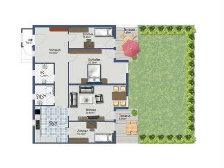Vierzimmer Gartenwohnung - provisionsfrei ab 1. Jänner 2019 (alles inklusive)