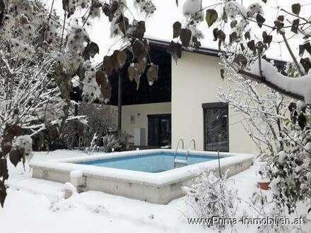 35 Minuten von Wien - Absolute Grün und Ruhelage - Einfamilienhaus mit Pool in Mannersdorf/L
