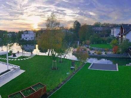 Designerhaus am privaten See mit eigenem Uferzugang- Schlüsselfertig in absoluter Ruhelage!