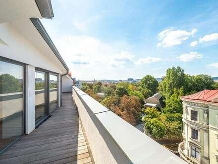 ++AUGARTENBLICK++ Hochwertige 3-Zimmer DG-Maisonette! Terrasse u. Dachterrasse mit tollem WEITBLICK!