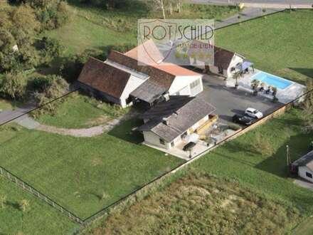 Einzigartiges Anwesen im Thermenort ! Wohnhaus mit Pool,Gästehaus,Whirlpool,Garagen, extra Bauland!