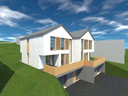 Architekten-Doppelwohnhaus in Aussichtslage