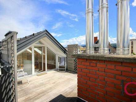 Schöne, moderne 3-Zimmer-Wohnung mit Loftcharakter und großer Sonnen-Panoramaterrasse