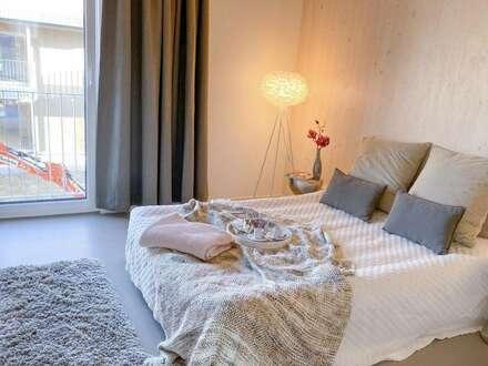 3-Zimmer Gartenwohnung in innovativem Holzmassivhaus