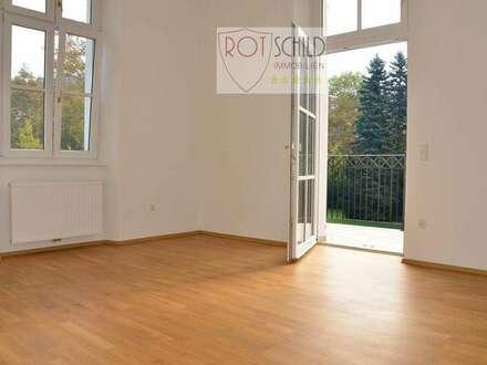 2 Zimmer TRAUM-Wohnung- neuer Altbau in Biedermeiervilla, barrierefrei, ab sofort mit Balkon, Küche