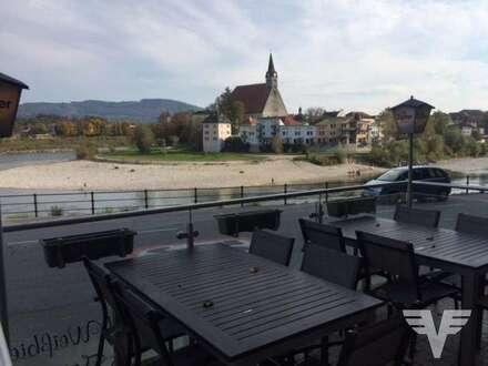 Urige Gaststätte am Salzachdamm in Oberndorf
