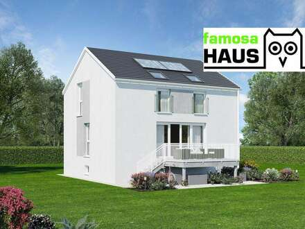 Geräumiges Einfamilienhaus: 101m² Wohnfläche, 54m² Keller, Terrasse, Eigengarten und 2 Parkplätze. Provisionsfrei!