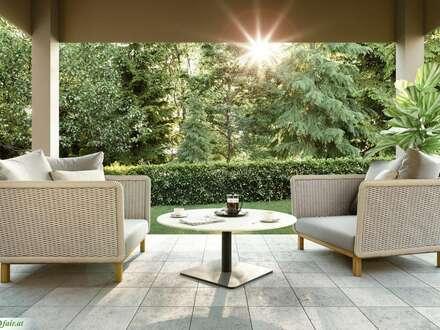 """""""LA BELLE VIE"""" - Terrassenwohnung mit Garten - Erdgeschoss - 2 Zimmer - 44m² Wohnfläche - 17m² Terrasse - 47m² Garten - EUR…"""