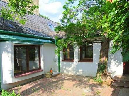 Haus mit idyllischem, begrünten Innenhof