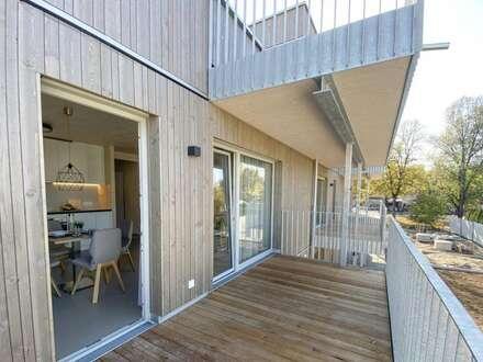 3-Zimmer Dachgeschoßwohnung in innovativem Holzmassivhaus