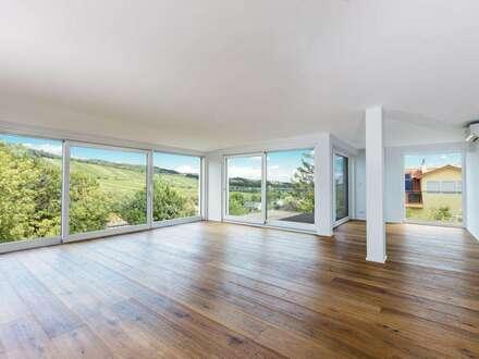 Exklusive Neubauwohnung mit 3 Terrassen! Dachgeschoß-Erstbezug mit Blick in die Weinberge