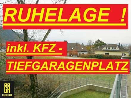 HELLE 2-Zimmer Wohnung in RUHELAGE in Bisamberg - Nähe Zentrum - wie ERSTBEZUG - inkl. TIEFGARAGENPLATZ - großer SÜD OST…