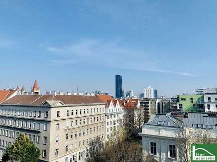 Toller Ausblick - Prater & U1 Vorgartenstraße - URBANES WOHNEN - Traumhafte 4 Zimmer Dachgeschosstraum mit 3 Freiflächen…