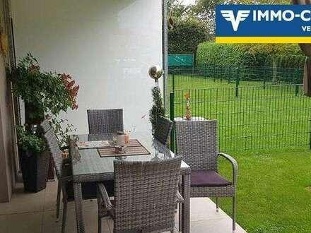 Qualität hat ein Zuhause mit Terrasse und Garten