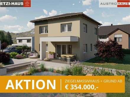 Bad Hall - Ziegelhaus ab € 354.000,- inkl. 790 m² Grund