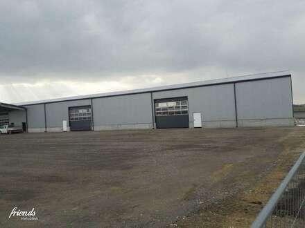 Neu errichtete Lagerhalle