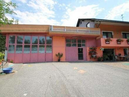 Großes Ein oder Mehrfamilenhaus mit Werkstatt und Lkw Garage