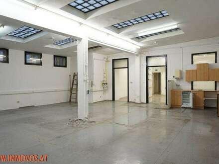 Botschaftsviertel nahe Belvedere/Schwarzenbergplatz/Modenapark: Zentrales Atelier-Lokal in schönem Altbau