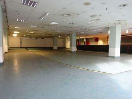 1. Monat mietfrei - Sehr zentrale 730 m² große Kantine/ Veranstaltungshalle mit Küche, Kühlräumen und Ess-Salon in einem…