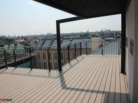 Generalsanierte helle 5 Zimmer Dachgeschoss-Wohnung mit Galerie und 2 Terrassen in Bestlage des 8. Bezirks