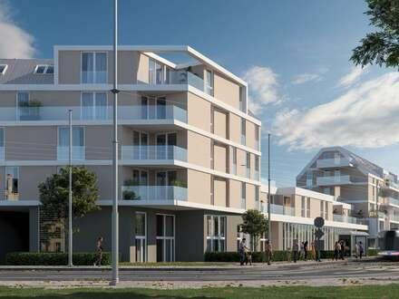 Helle Wohnung mit Top-Ausstattung! Anlage! ERSTBEZUG! Morgen- und Nachmittagssonne auf ihrer eigenen Loggia! Rohbau fertiggestellt!