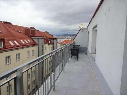 Helle 44m² Terrassenwohnung mit 20 m² Dachterrasse, 2 Zimmer, separate Küche, 7 Min zur U6 (Bhf. Meidling)