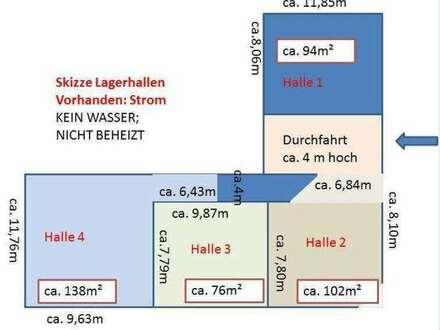 Lagerhalle 76m² - € 380, - mtl.