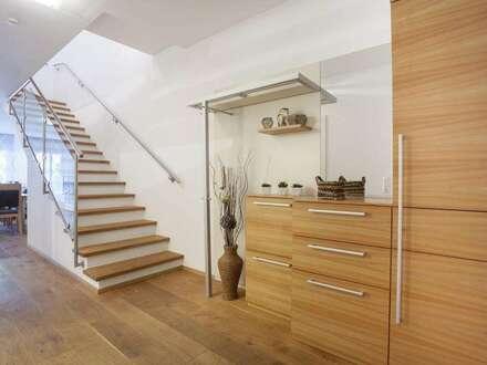 möblierte Mietwohnung, 2 Wohnebenen mit Garten und Balkon