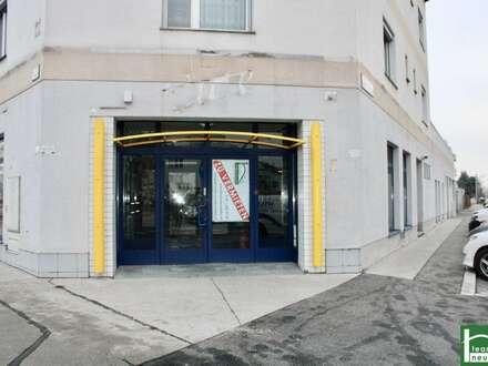 Ab sofort verfügbar! Großzügiges Geschäftslokal! Tolle Lage - direkt an der Brünner Straße! Einfache Adaptierbarkeit!
