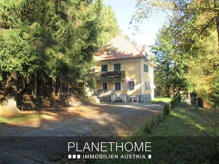 Jahrhundertwende-Villa mit Portierhaus und großem Grund