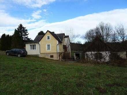 Sanierungsbedürftiges Einfamilienhaus mit Obstgarten