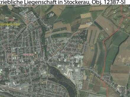 Betriebsobjekt im Industriegebiet mit Büro, Lager, Werkstatt und Wohnung, Obj. 12387-SI