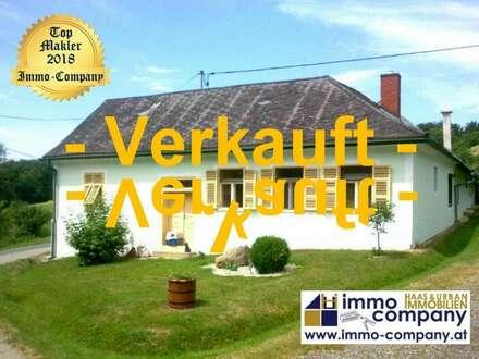 Bauernhaus mit Fernblick . . . ein Traum – ca. 110m² Wohnfläche – ca. 7.900m² Grundfläche - 125.000 Euro Wunderschöne, absolut…