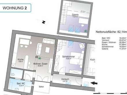 Neuwertige Mietwohnung (82m²) mit Balkon im Zentrum von Hartberg!