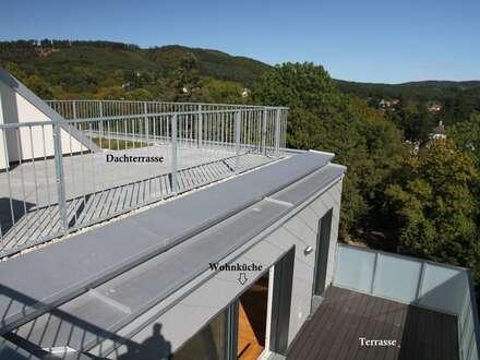 360° BLICK vom DACHGARTEN (108 m²) - Traumhafter Wienerwald-Weitblick!