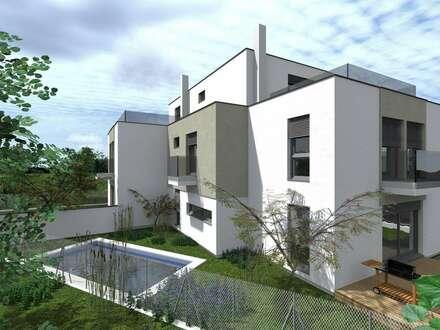 Nähe U1- Designerhaus, Swimmingpool, Keller, Sonnenterrasse- Nähe U1