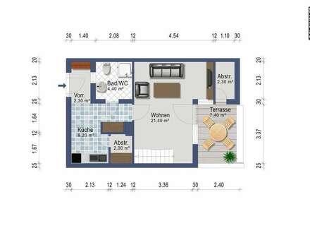 Zweizimmer Wohngalerie - provisionsfrei ab sofort - Heizkosten inklusive