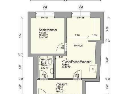 ideal Leben - Zimmer_Küche_Kabinett -  Wohnung __  Juhu - mittendrin