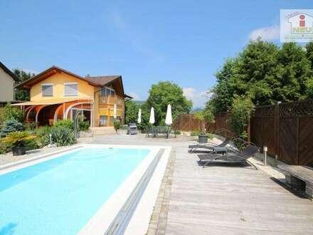 Junges, wunderschönes Haus in Feldkirchen mit traumhaften Park, Garten und exklusiver Poollandschaft