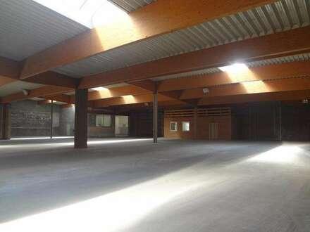 Lagerhallenfäche mit 200 - 2.000 m² Nutzfläche