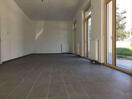 Wunderschöner, unbefristeter ERSTBEZUG im Nordbahnviertel: Großzügiges Büro/Praxis/Studio mit GARTEN - PROVISIONSFREI direkt vom Bauträger!