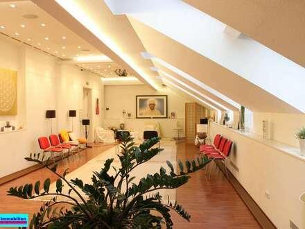 Repräsentatives helles Büro mit 211m² und Südterrasse Praterstern nähe