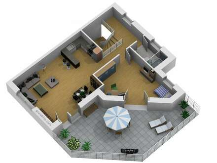 NEUBAUPROJEKT: Sonnendurchflutete 3-Zimmer-Penthousewohnung