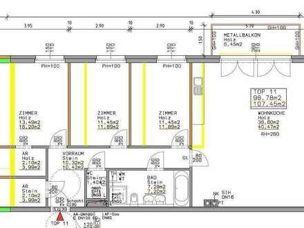 +4 Zimmer mit Balkon und Garage