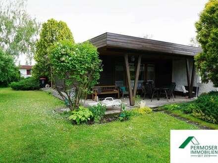 gepflegtes Holzhaus aus österreichischer Lärche, voll möbliert - auf Pachtgrund (Esterhazysee)