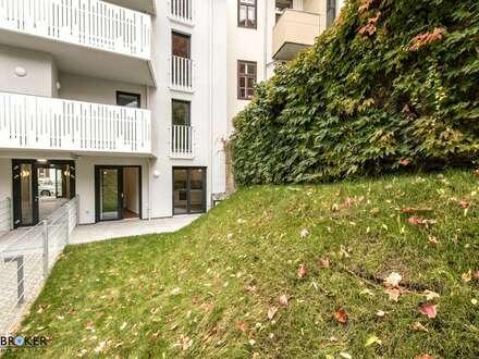 ERSTBEZUG! zentrale Neubau-Mietwohnung mit Garten in Ruhelage