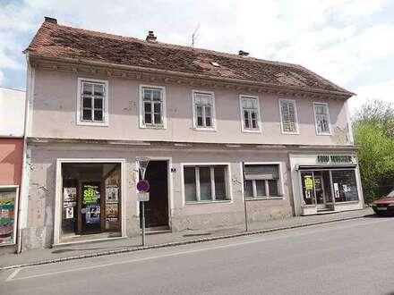 Sanierungsbedürftiges Geschäfts- bzw. Wohnhaus in bester Feldbacher Zentrumslage