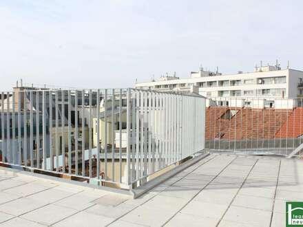 Urbanes Wohnen - ideale Raumaufteilung - Balkon & Terrasse - toller Ausblick - Dachgeschosstraum - Nähe Prater!