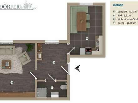 Single-PärchenHIT!Großzügige, helle und sanierte Wohnung! 2-Zimmer! Neue Küche,Gemeinschaftsgarten!